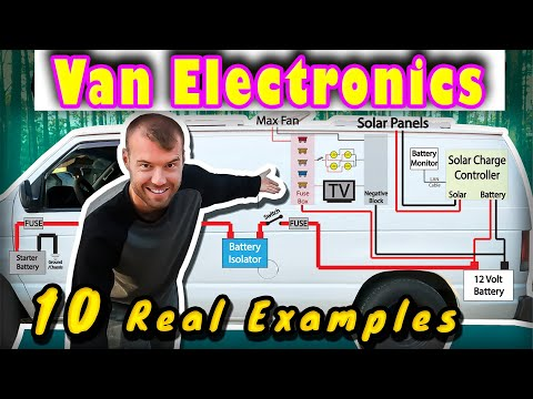 VAN LIFE ELECTRONICS Start to Finish | DIY Vanlife Solar Battery Wiring (2020)🚐
