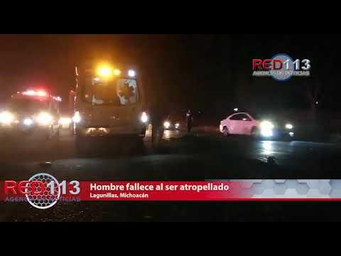 VIDEO Hombre fallece al ser atropellado frente a la entrada a Lagunillas