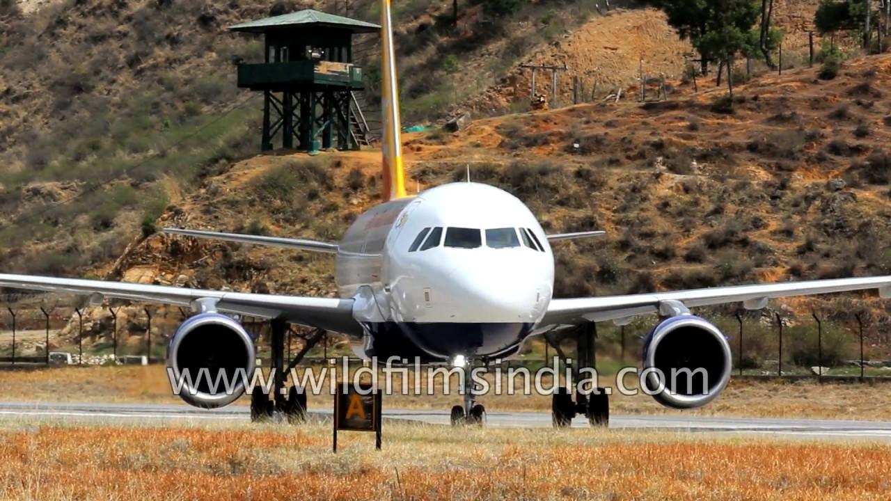 Toughest Landing Druk Air Flight Lands In Kingdom Of Bhutan Youtube