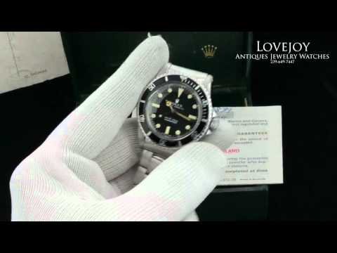 James Bond Rolex Submariner 5513 Vintage Box & Papers
