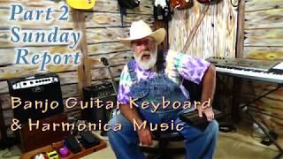 Banjo, guitar & Harmonica music Bluegrass Style