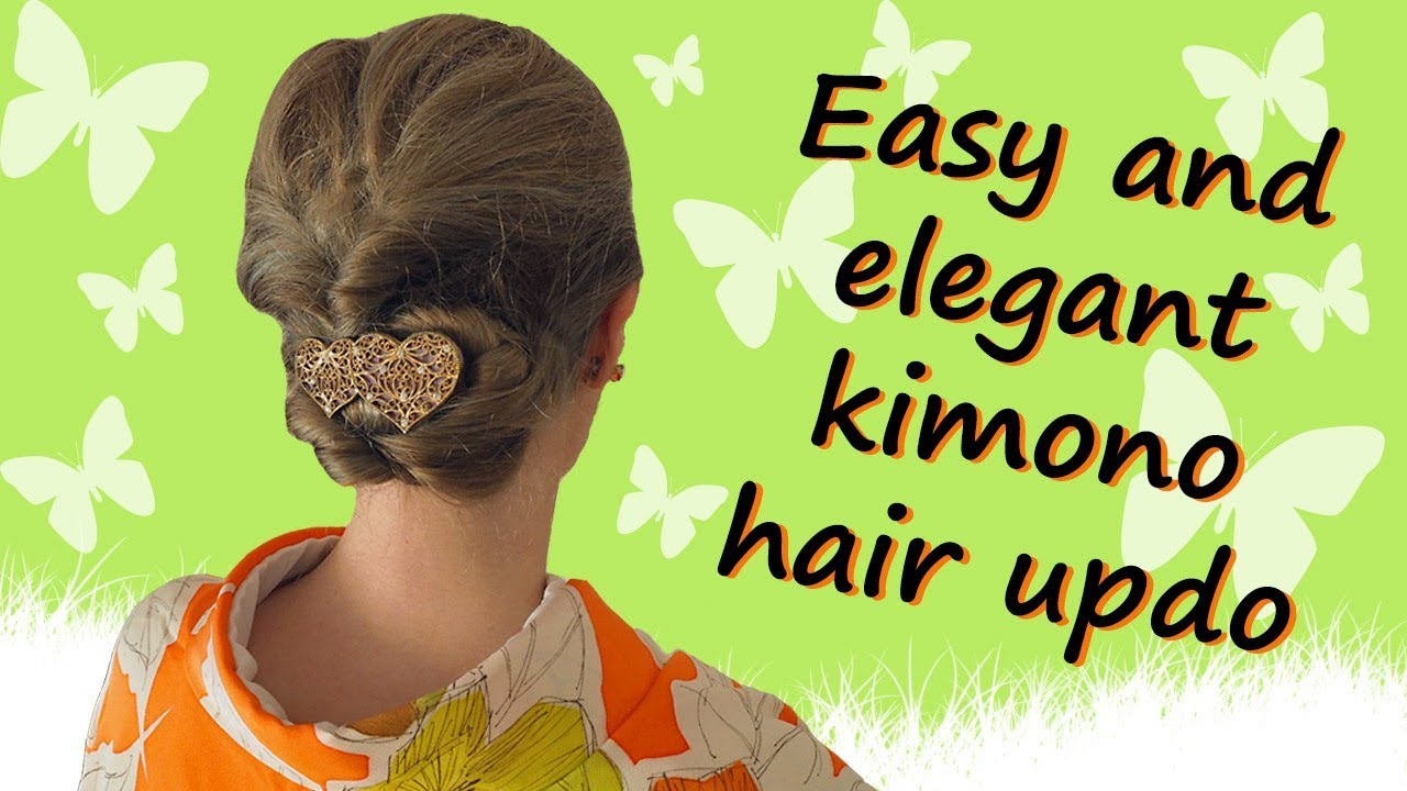 Easy and elegant kimono hair updo in 12 minutes
