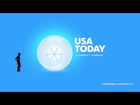 Holiday Lights at USA TODAY