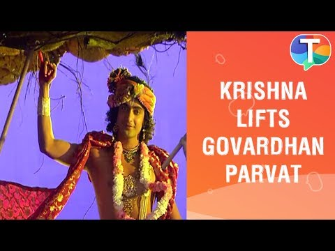 Krishna's NEW Look As He Lifts Up Govardhan Parvat | Radha Krishna