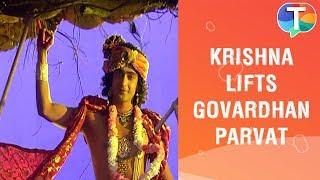 krishna-s-new-look-as-he-lifts-up-govardhan-parvat-radha-krishna