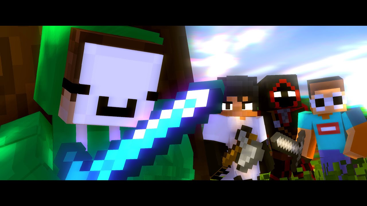 Dream Animation Modded Griefers A Minecraft Animated Music Video Youtube