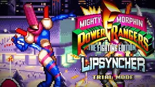 Mighty Morphin Power Rangers: The Fighting Edition (SNES) - Trial Mode - Lipsyncher Gameplay