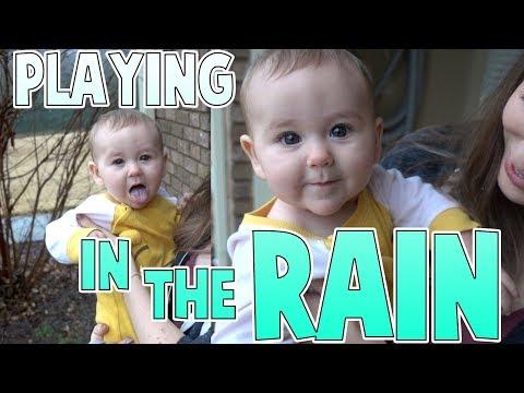 Reacting To Rain | Family Baby Vlogs