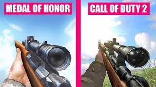 Call of Duty 2 vs Medal of Honor Allied Assault Weapons Comparison