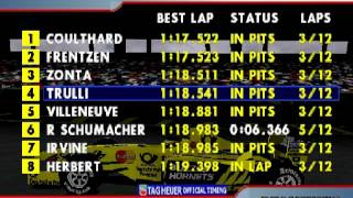 F1 2000 Interlagos Qualifying and Live timing (PS1)