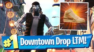 Downtown Drop Gameplay + Shoe / Basketball Location - Fortnite Battle Royale