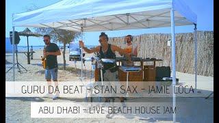 Beach house music live set, house music live dj set+Percussion + saxophone - Guru Da Beat x Stan Sax