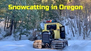 Frandee SnoShu snowcat - playing in Oregon snow