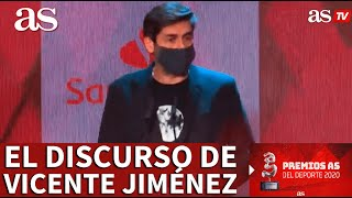 Premios AS 2020 | El discurso de Vicente Jiménez | Diario AS