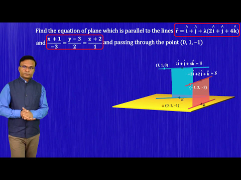 How to find equation of plane |JEE Main |JEE Advanced | JEE Maths video lecutres by Ghanshyam Tewani