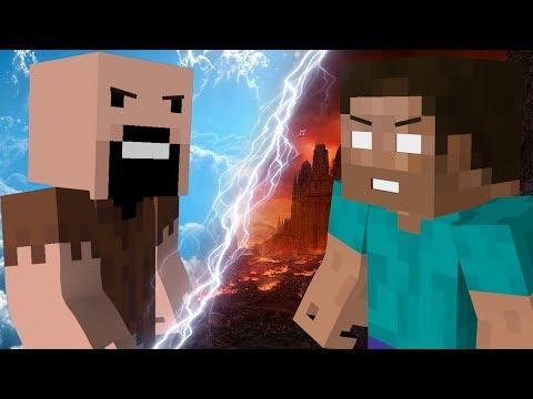 Моя игра-клип,анимация(нотч против херобрина) майнкрафт(песня на русском).