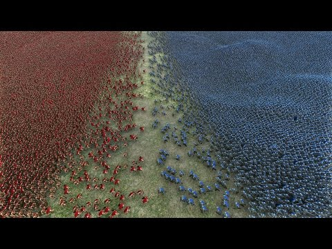 20.000 SPARTANS vs 20.000 HEAVY KNIGHTS - Ultimate Epic Battle Simulator