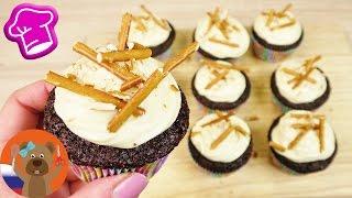 Сладко-соленые капкейки с шоколадом и карамелью   Простой рецепт   Пальчики оближешь!!