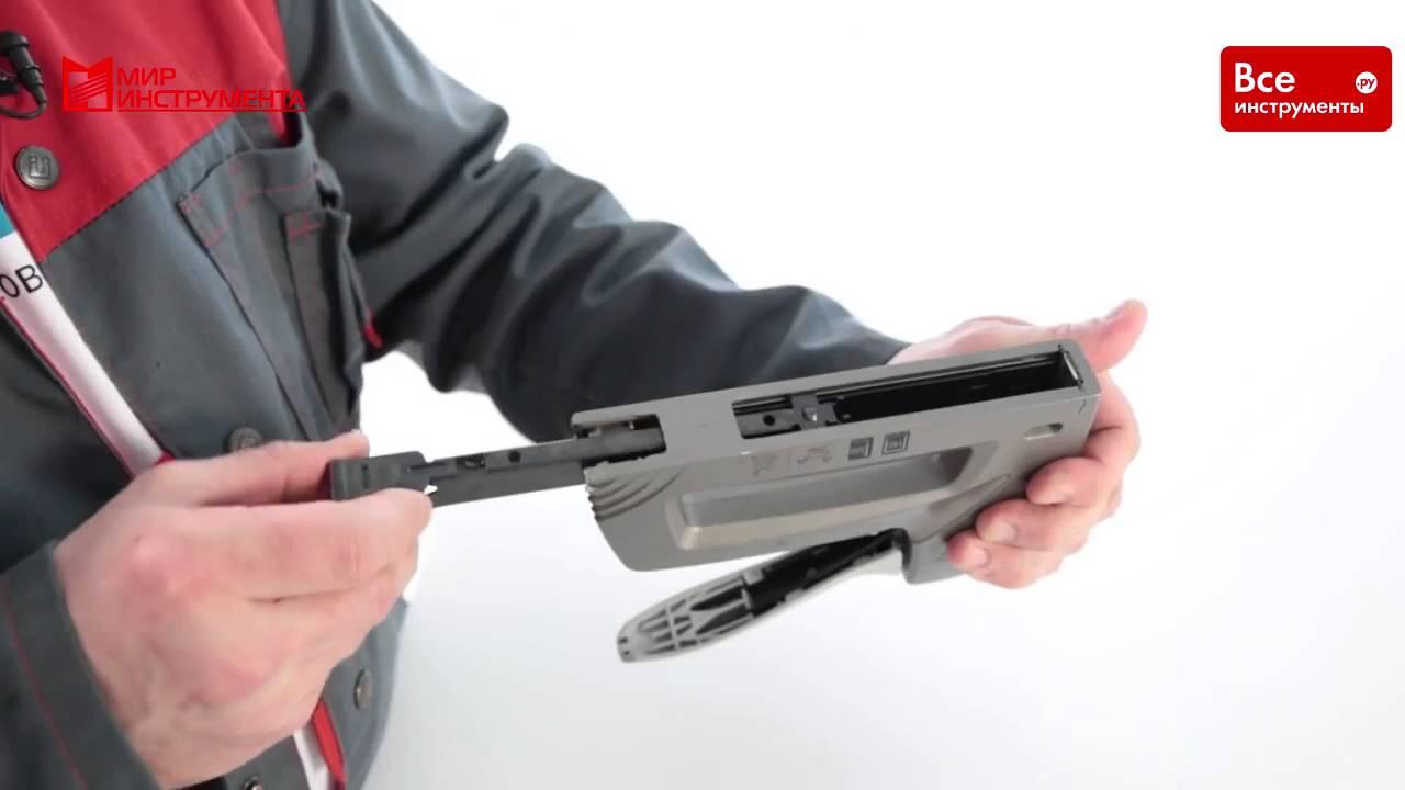 Степлер Сталь 62001 4 - 14 мм профессиональный + 600 скоб - YouTube