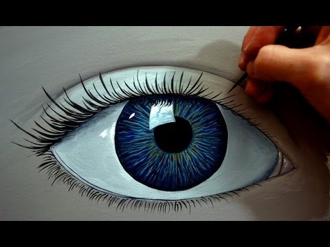 How to Paint a Realistic Eye Using Acrylics