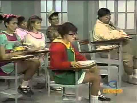 Chaves - O esqueleto na sala de aula - parte 1 - Episódio inédito (Espanhol)