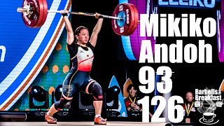 Mikiko got the forth place in the strongest weight class in this ch...
