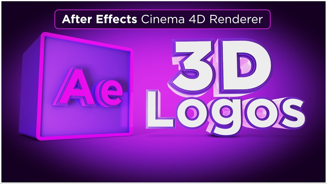 After Effects CC 2017 Tutorial - Create a 3D extruded logo with the Cinema  4D Renderer