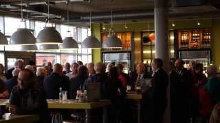 Treorchy Male Choir sing Senzenina in Wetherspoons on Cardiff Bay