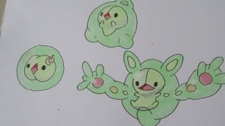 How to draw Pokemon: No.577 Solosis, No.578 Duosion, No.579 Reuniclus