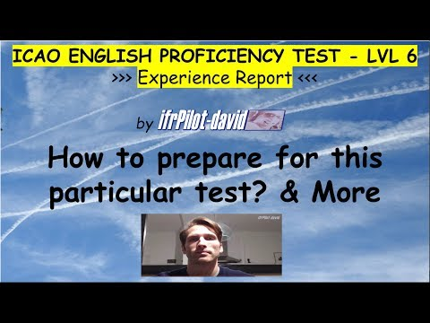 ICAO ENGLISH TEST Level 6 (ILPT) - Report