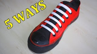 5 Creative Ways to fasten Shoelaces | MrGear