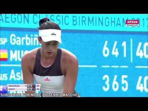 Muguruza Garbine vs Barty Ashleigh HD 1/2 finale #GreatBarty
