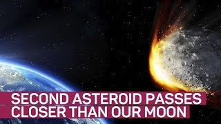 High-speed asteroid passes between Earth, moon