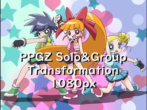 [HD]Powerpuff Girls Z Transformation パワパフガールズZ変身