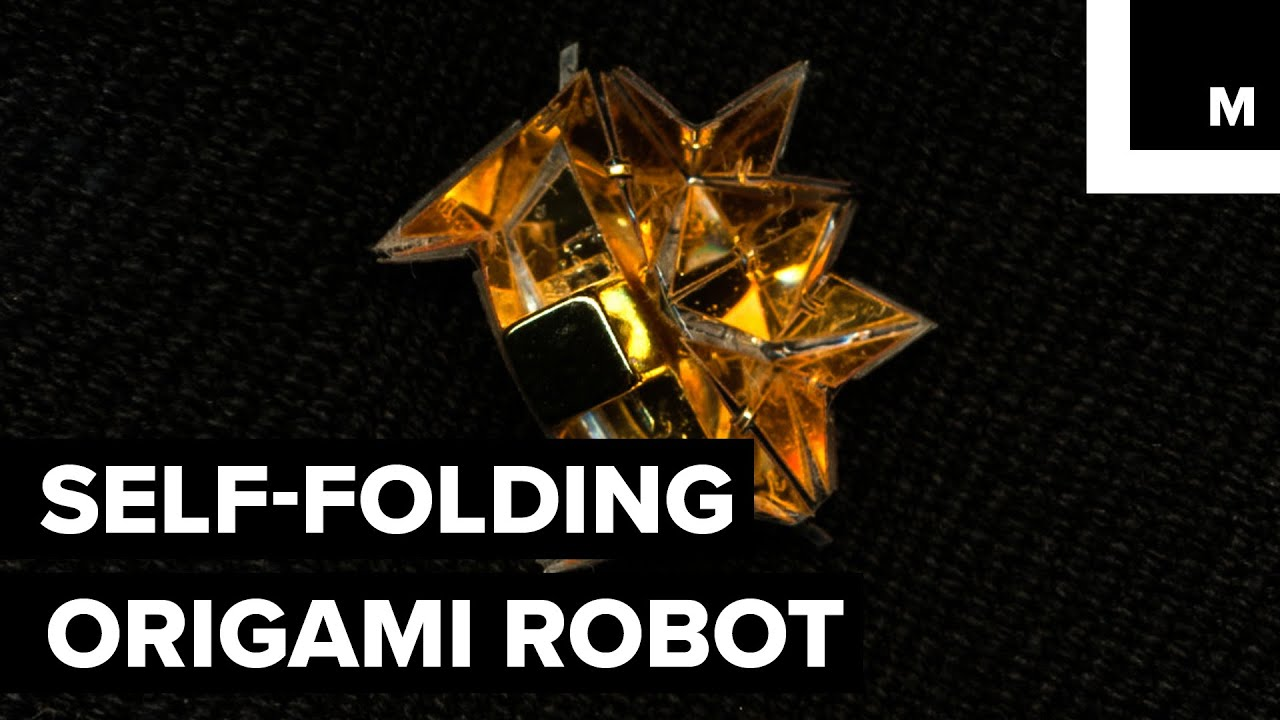 Self Folding Origami Robot
