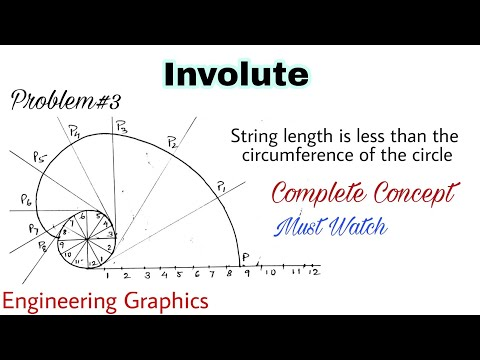 6. Construction Of An Involute  String Length Is Less