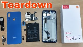 Redmi Note 7 Teardown & Disassemble | Replace Parts | Open Back Cover & Remove Battery Redmi Note 7