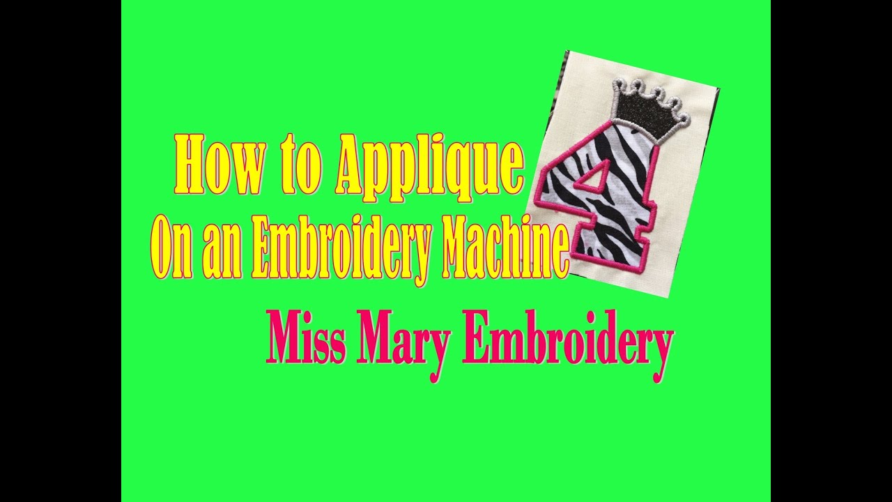 How To Applique On An Embroidery Machine Tutorial