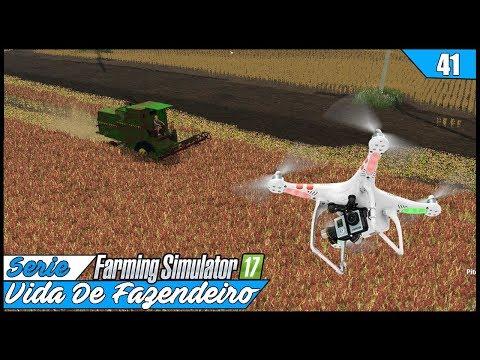 VOLTANDO A USAR O DRONE! MUITO MASSA | FARMING SIMULATOR 17 #41 | PT-BR |