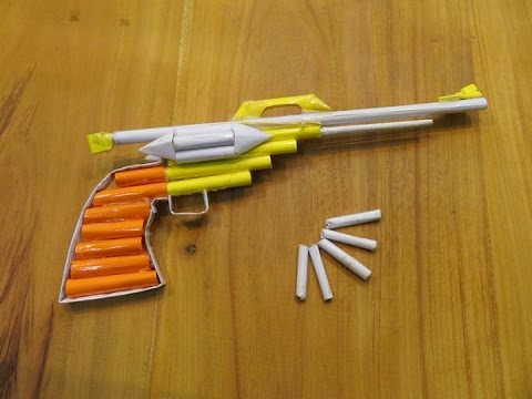 How to make a Paper Revolver That Shoots Paper Bullets (Paper Gun) - GTa Weapon