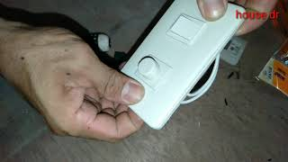 installing pinlight, dimmer switch, outlet at the attic(housedrtutorial)