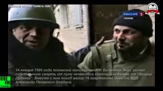 Война в Чечне.Журналист В.Янус заснял собственную смерть от пули снайпера.