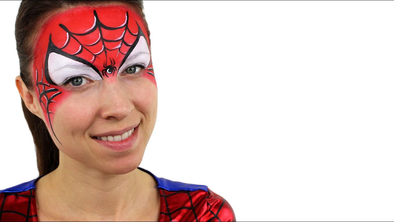 Spiderman Face Paint Tutorial - YouTube