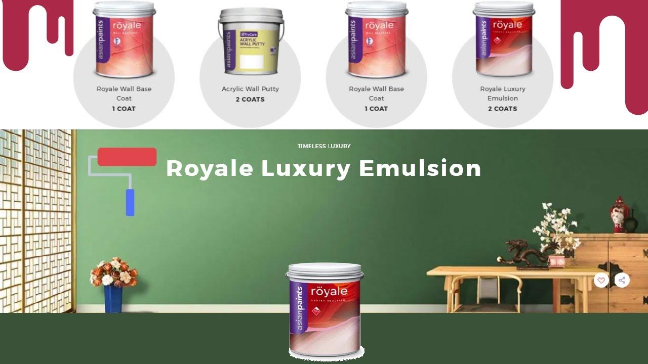 जाने asianpaints Royale Luxury Emulsion के बारे में सब कुछ || WallTexture