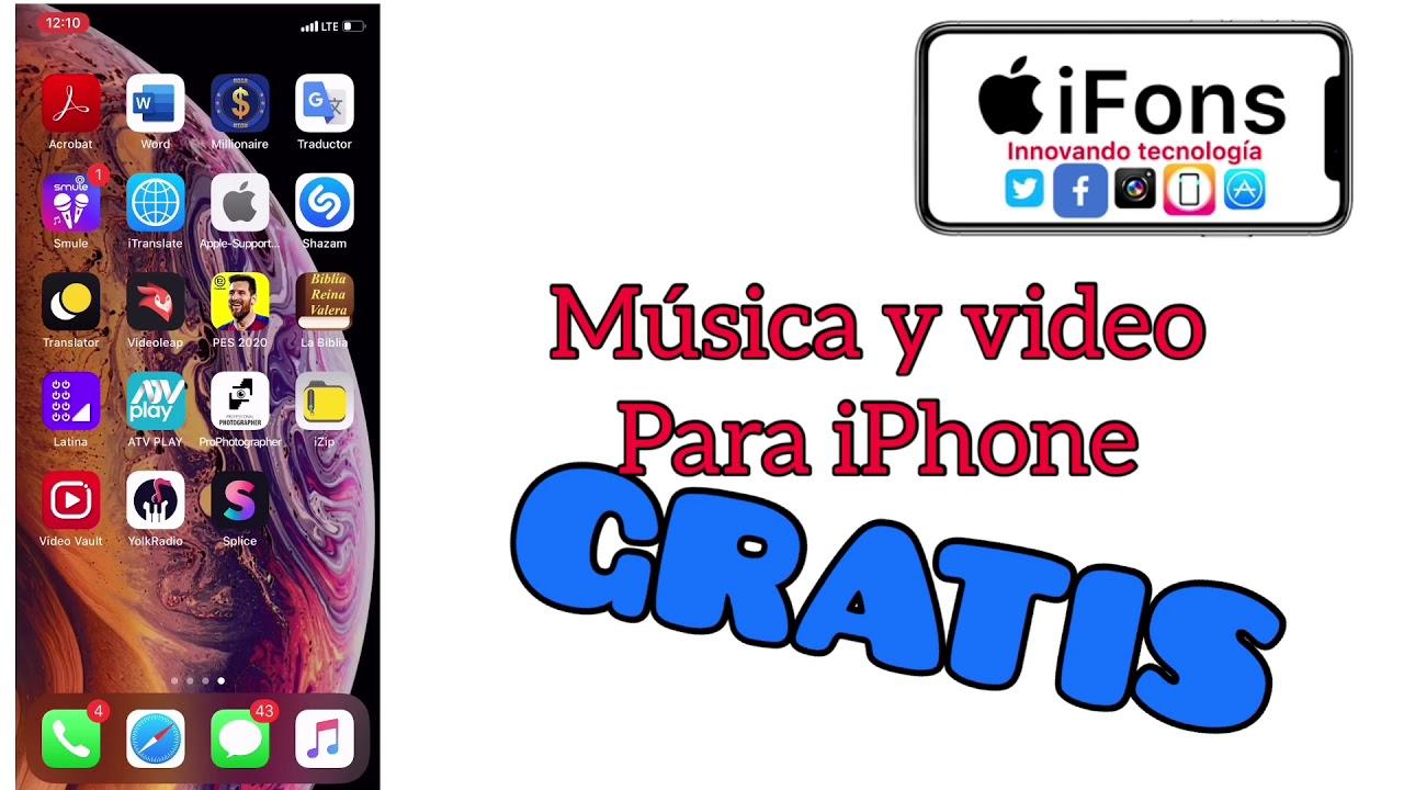 DESCARGAR MÚSICA GRATIS PARA IPHONE - YouTube