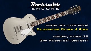 Rocksmith 2014 Rocksmith Encore - Celebrating Women & Rock - Live from Ubisoft Studio SF
