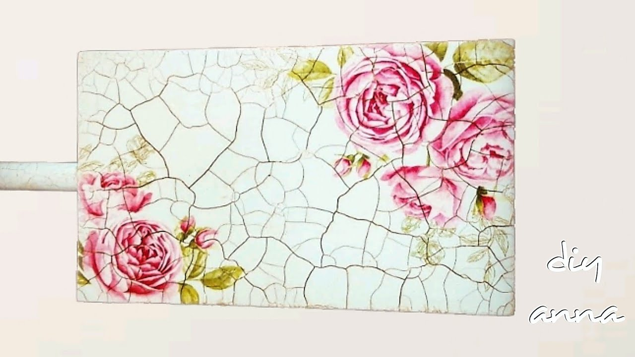 decoupage shabby chic with 2 step crackle varnish DIY ...
