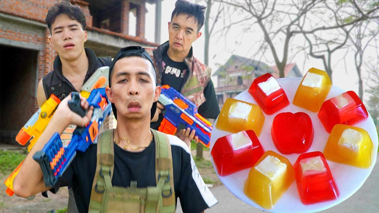 Captain SEAL Nerf Guns Mafia Group Dispute JELLY FRUIT Compilation | Action Nerf War
