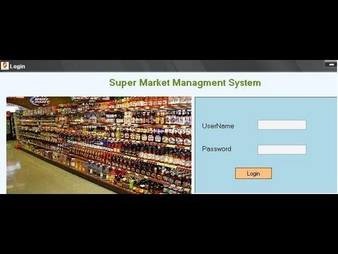 supermarket management system Project in vb net
