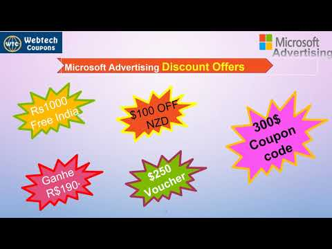 Microsoft Advertising Promo Code 2019 | Free Credit $100 Discount Coupon